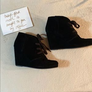 Dolce Vita Black Wedge Ankle Boots